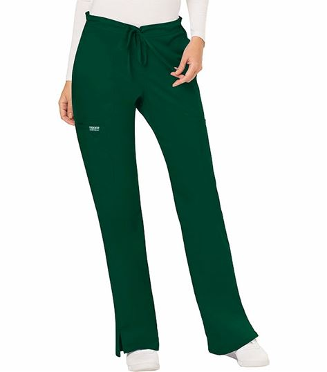 Cherokee Workwear Women's Petite Drawstring Cargo Scrub Pants-WW120P