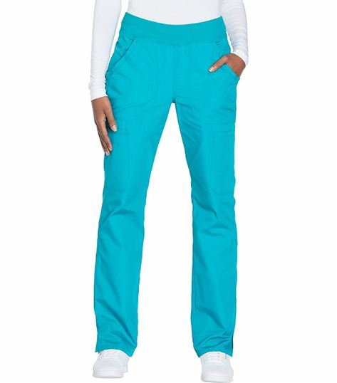 Cherokee Workwear Women's Straight Leg Pull On Cargo Scrub Pants-WW210