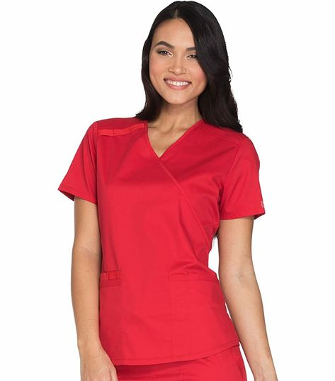 Cherokee WorkWear Core Stretch Women's V-neck Scrub Top-WW630