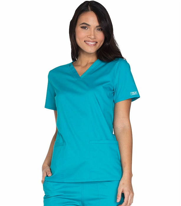 cb25ee6d6f9 Cherokee WorkWear Core Stretch Women's V-neck Scrub Top-WW630 | Medical  Scrubs Collection