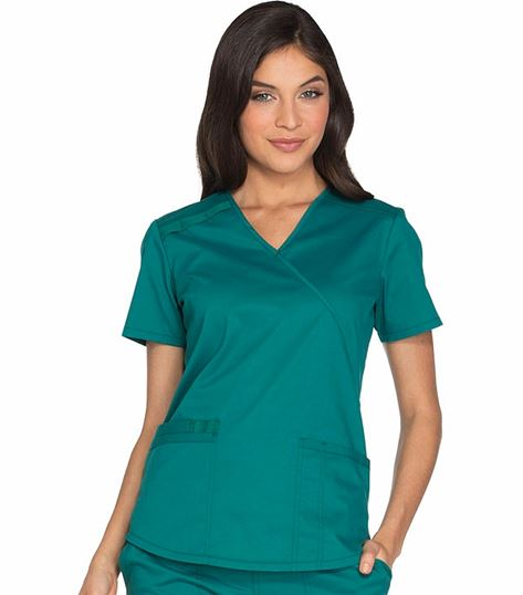 Cherokee WorkWear Core Stretch Women's  Mock Wrap Scrub Top-WW640