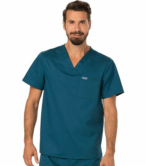 Cherokee Workwear Revolution Men's V-Neck Scrub Top-WW690