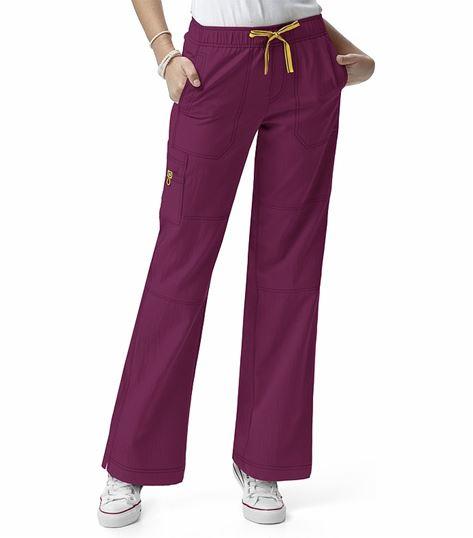 WonderWink Four-Stretch Women's Elastic Waist Cargo Scrub Pants-5214