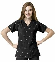 WonderWink HP Women's V-Neck Printed Scrub Top-6117