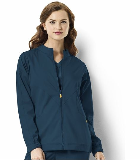 WonderWink Next Women's Zip Up Warm-Up Scrub Jacket-8119