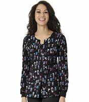 WonderWink Four-Stretch Women's Printed Button Up Scrub Warm-Up Jacket-8117