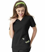 I Love WonderWink Women's V-Neck Scrub Top-6188