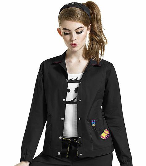I Love WonderWink Women's Denim Style Jacket-8188