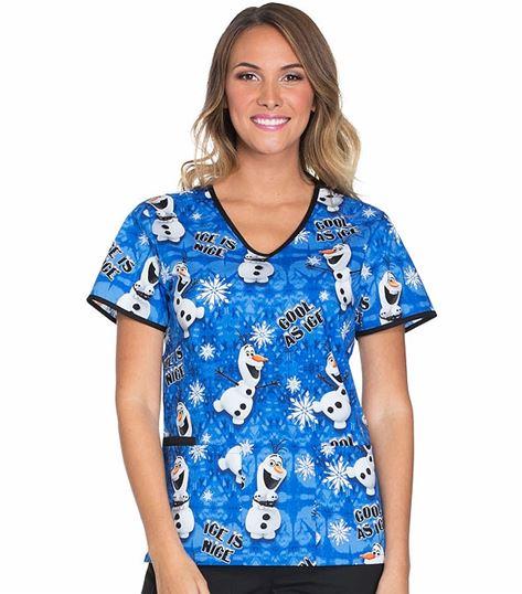 Cherokee Tooniforms Women's V-Neck Sesame Street Scrub Top-TF615