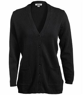Ladies V-neck Long Cardigan Sweater EW119