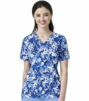 Carhartt Women's Printed  V-Neck Media Scrub Top-C12114
