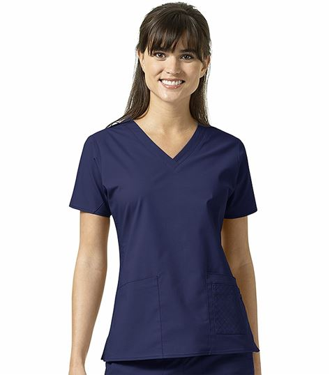 Vera Bradley Signature Women's Maya Solid V-Neck Scrub Top-V6102