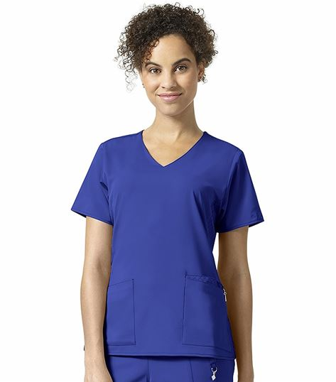 Vera Bradley Halo Women's Nettie Solid V-Neck Scrub Top-V6109
