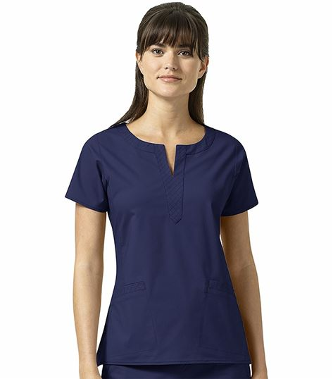 Vera Bradley Signature Women's Linda Notch Neck Solid Scrub Top-V6202