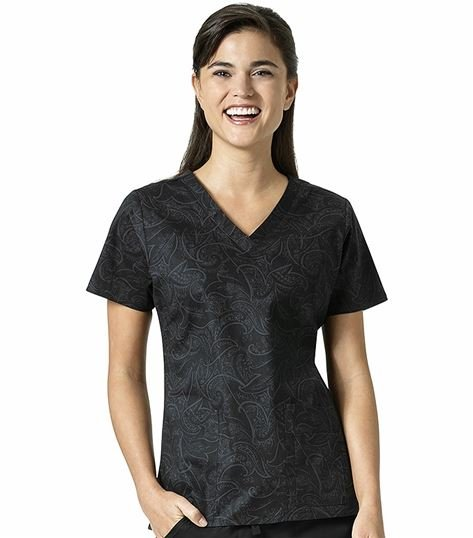 Vera Bradley Signature Women's Printed V-Neck Scrub Top-V6107