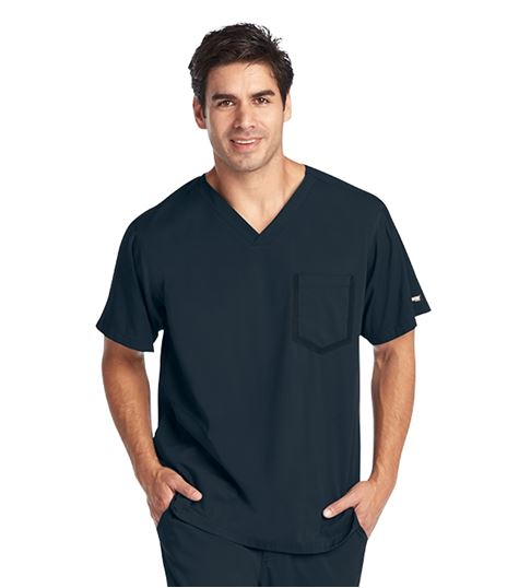 Grey's Anatomy Impact Men's Ascend 3 Pocket Stretch Scrub Top-0118