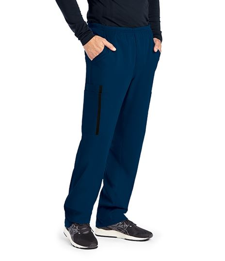 Grey's Anatomy Impact Men's Elastic Waist Cargo Scrub Pants-0219
