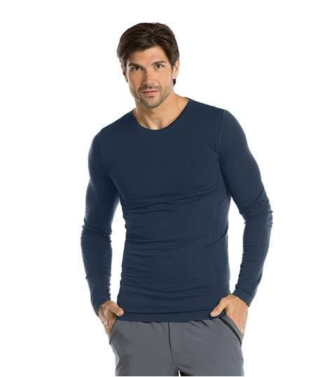 Barco One Men's Long Sleeve Underscrub Knit Tee-0305
