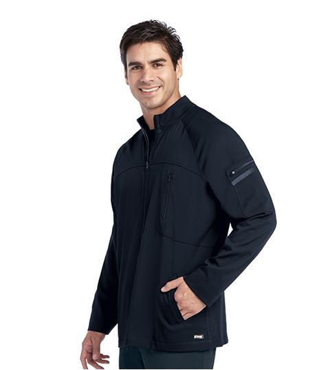 Grey's Anatomy Impact Men's Ascend Zip Up Warm Up Scrub Jacket-0918
