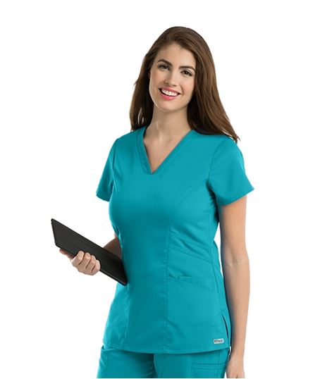 Grey's Anatomy Women's Marquis V-Neck Stretch Scrub Top-41452