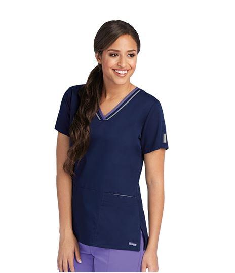 Grey's Anatomy Active Women's Contrast Trim V-Neck Scrub Top-41466