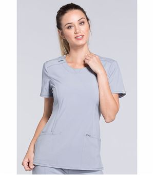 Cherokee Infinity Women's Round Neck Solid Scrub Top-2624A