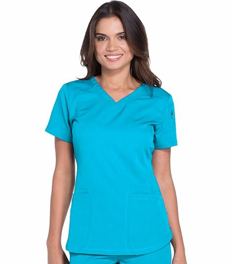 Dickies Dynamix Women's Princess Seam V-Neck Scrub Top-DK730