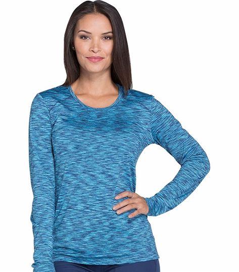 Dickies Dynamix Women's Melange Underscrub Long Sleeve Knit Tee-DK920