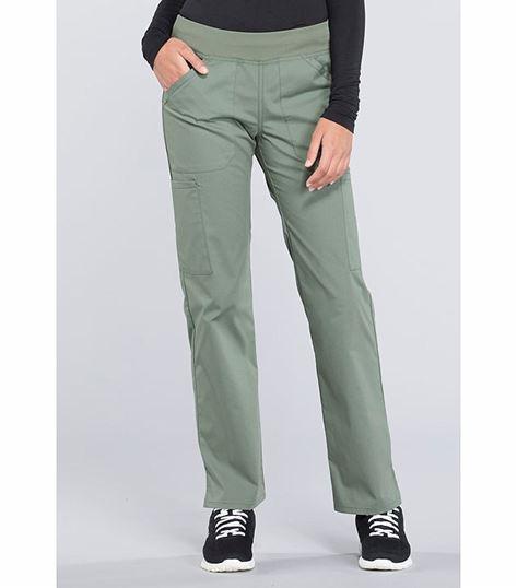 Cherokee Workwear Professionals Women's Straight Leg Elastic Waist Cargo Scrub Pants- WW170