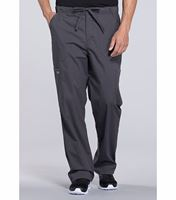 Cherokee Workwear Professionals Men's Elastic Waist Tapered Cargo Scrub Pants -WW190