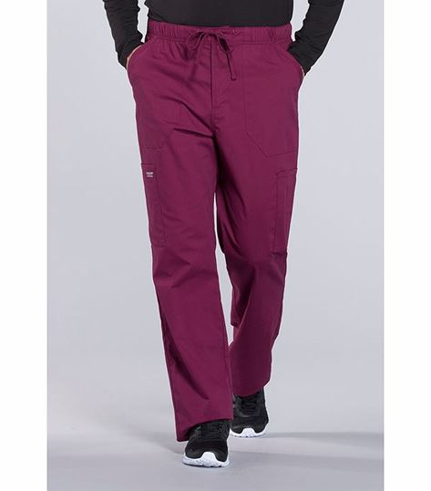 Cherokee Workwear Professionals Men's Elastic Waist Tapered Cargo Scrub Pants -WW190