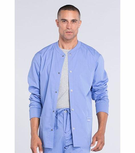 Cherokee Workwear Professionals Men's Snap Front Warm-Up Scrub Jacket-WW360