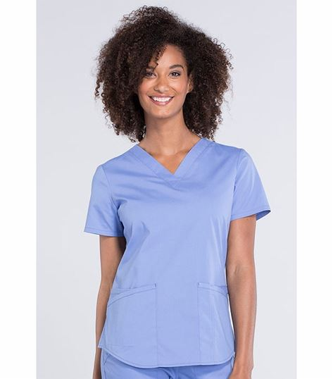 Cherokee Workwear Professionals Women's V-Neck Scrub Top-WW665