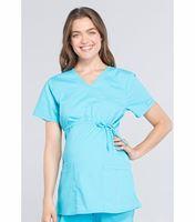 Cherokee Workwear Professionals Maternity Mock Wrap Scrub Top-WW685
