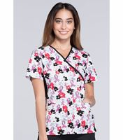 Cherokee Flexibles Women's Mock Wrap Printed Scrub Top-2988C