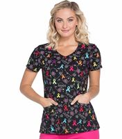 Dickies Prints Women's V-Neck Printed Scrub Top-DK700