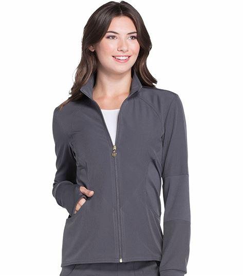 HeartSoul Women's Zip Up Warm-up Scrub Jacket-HS315