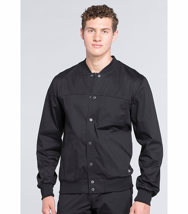 Cherokee WorkWear Core Stretch Men's Snap Front Warm-Up ...
