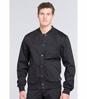 Cherokee WorkWear Core Stretch Men's Snap Front Warm-Up Scrub Jacket-WW330