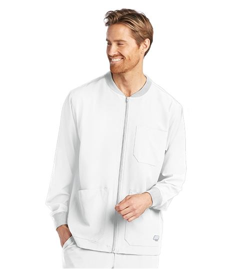 Skechers SK0408 Men's Three Pocket Structure Scrub Jacket by Barco