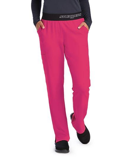 Skechers Women's Vitality Logo Elastic Waist Scrub Pants-SK202