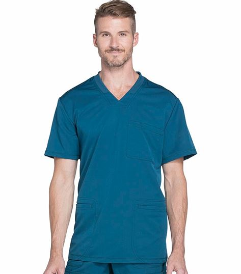 Dickies Dynamix Men's Knit Collar V-Neck Scrub Top-DK640