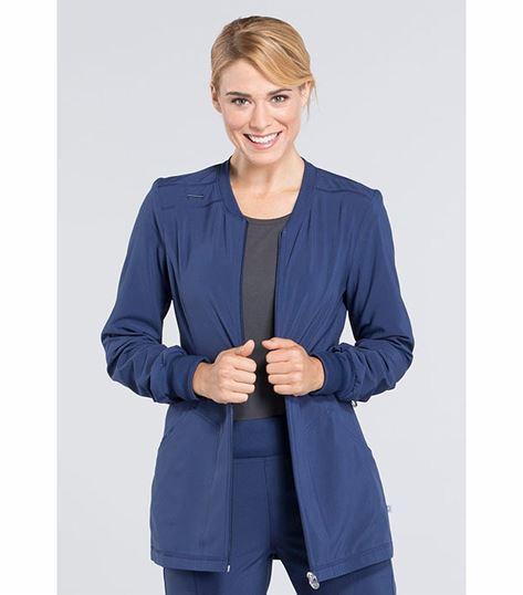Cherokee Infinity Women's Zip Front Warm-Up Scrub Jacket-CK370A