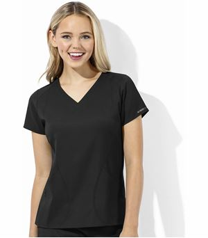 WonderWink WonderTech Women's Solid V-Neck Scrub Top-6113
