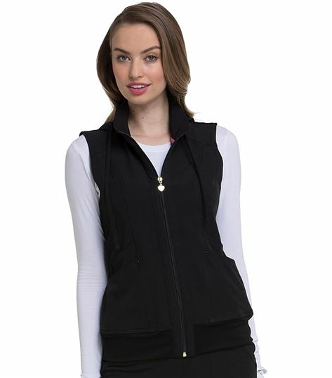 HeartSoul Zip Up Nurse Scrub Vest-HS500