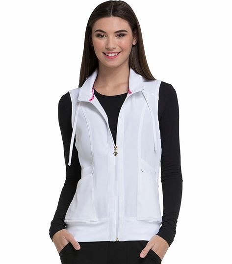 HeartSoul Zip Up Nurse Scrub Vest-HS500