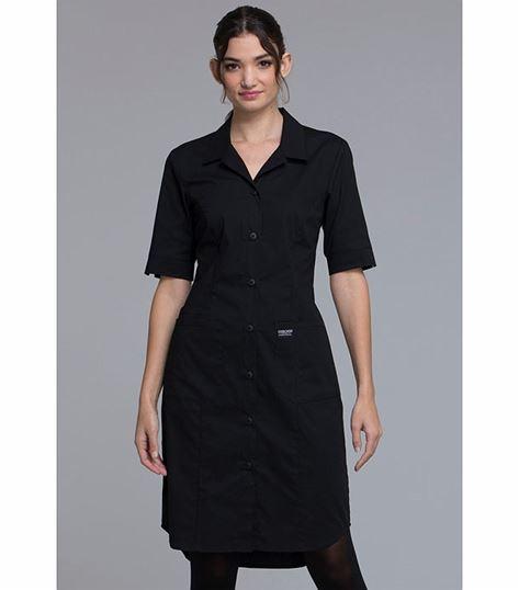 Cherokee Workwear Professionals Button Front  High Low Nurse Scrub Dress-WW500