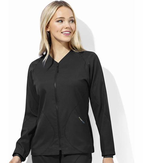 WonderWink WonderTech Women's Zip Front Scrub Jacket-8213