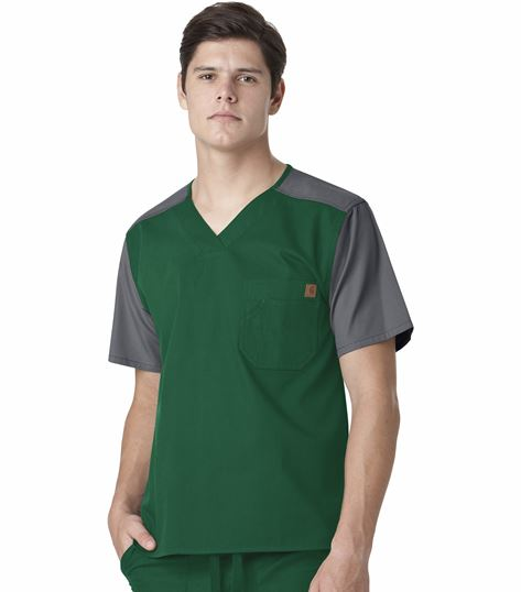 Carhartt Men's Ripstop Color Block Scrub Top-C14108