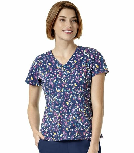 Vera Bradley Halo Women's Printed Empire Waist Scrub Top-V6217